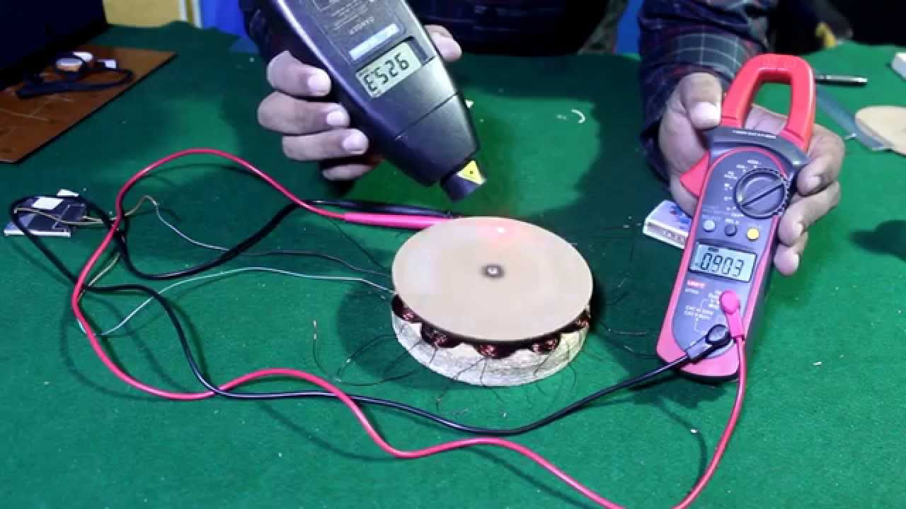How To Make AC Generator Permanent Magnet Alternator From Hard Disk Magnets English Subtitle