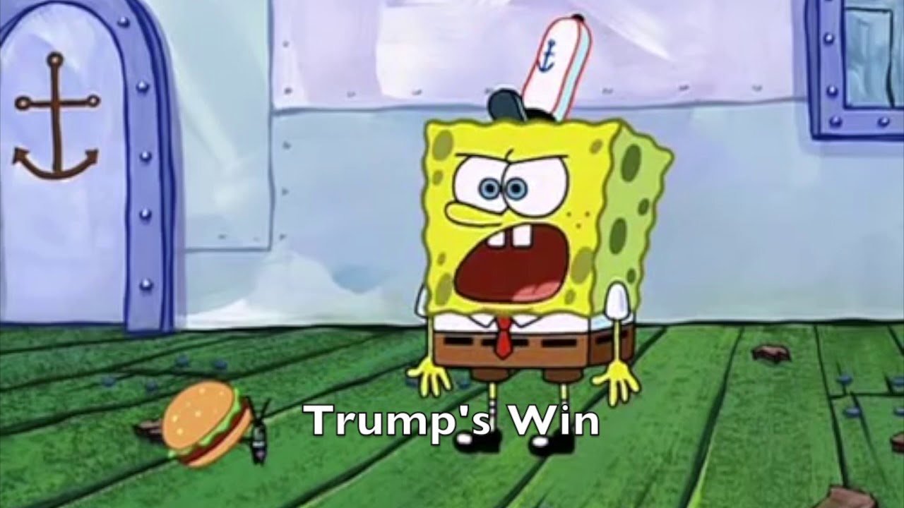 2016 election portrayed by spongebob