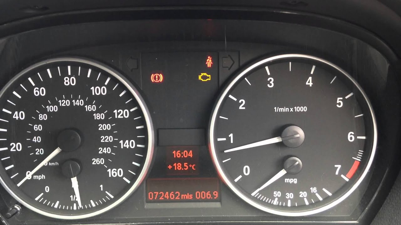 Bmw Warning Lights E90 >> BMW 1 & 3 Series Flashing Check Engine Warning Light Diagnose - YouTube