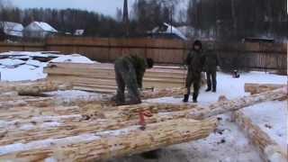 Срубы домов - процесс строительства(, 2013-04-01T10:50:36.000Z)