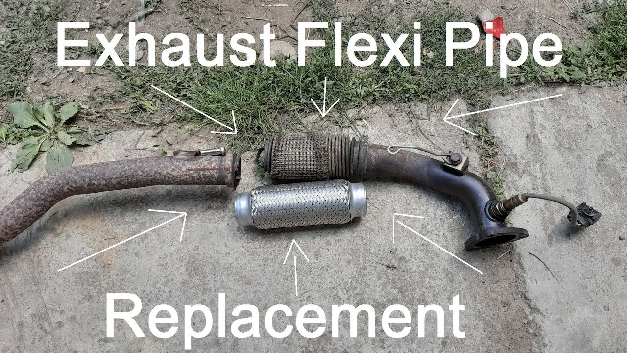 how to replace exhaust flex pipe