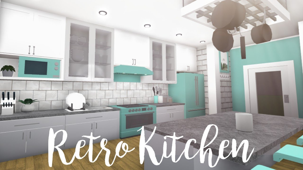 Bloxburg retro kitchen 21k youtube for Kitchen designs bloxburg