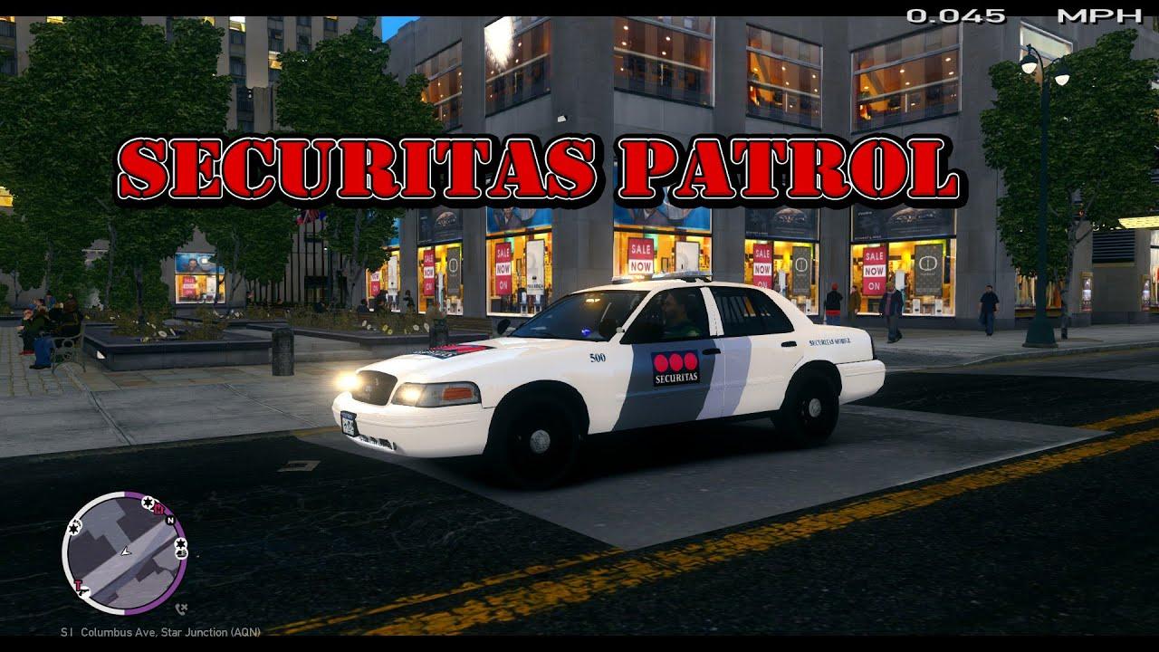 Lcpdfr 1 0d Gta 4 Security Securitas Cv Patrol Youtube