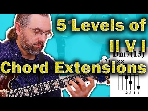 5 Levels Of II V I Jazz Chord Extensions - Comping Boost