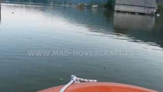 911 Flood relief with amphibian rescue boat - hovercraft (air cushion vehicle)