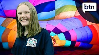 Rookie Report: Ella is training to be a hot air balloon pilot - Behind the News