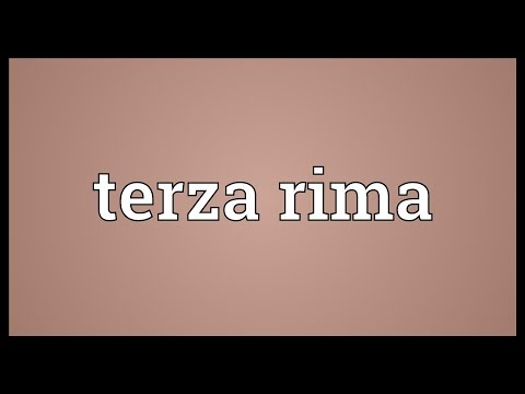 Terza rima Meaning