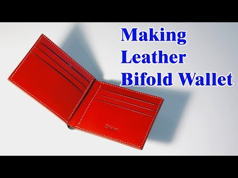 24 [LeatherCraft] Making a Leather Bifold Wallet / [가죽공예] 가죽 반지갑 만들기 / Free Pattern
