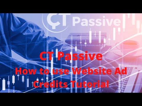 CT PASSIVE – How to use website ad credits tutorial.