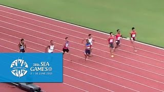 Athletics Men's 100m Final (Day 4 afternoon) | 28th SEA Games Singapore 2015