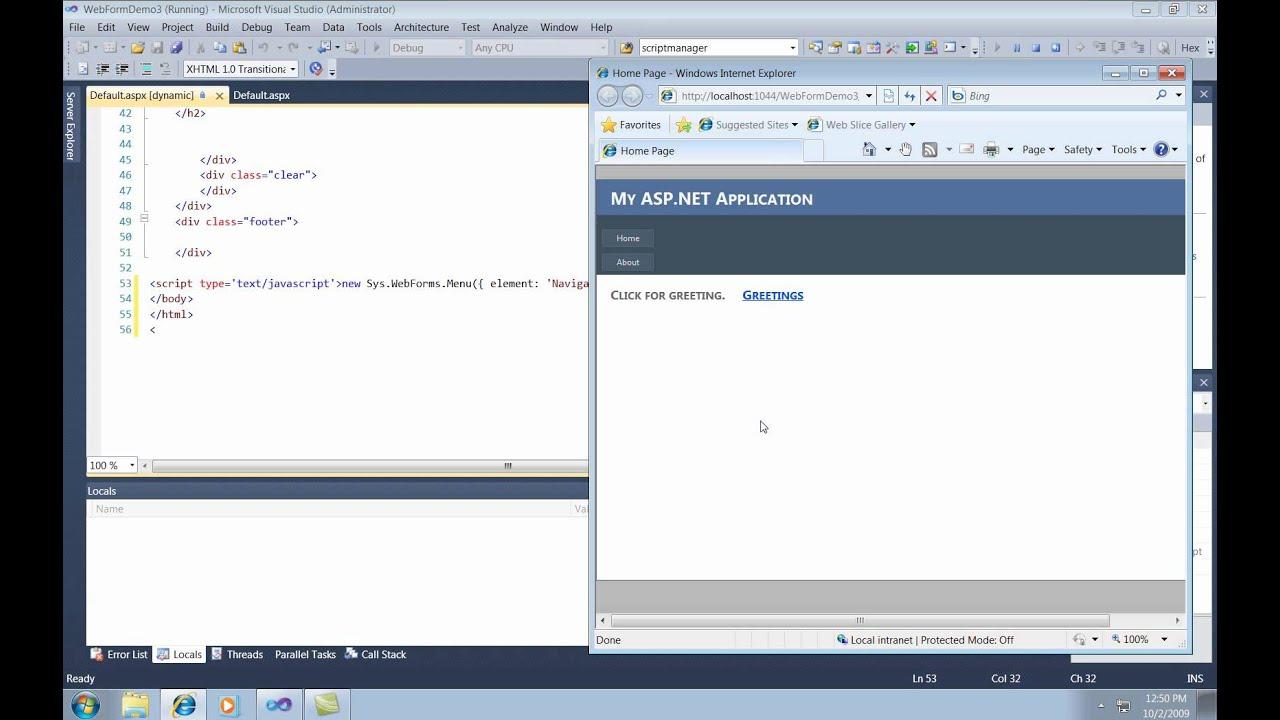 Visual Studio Asp Web Forms