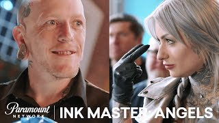 Ryan Ashley is a Master at Ink AND Trash Talk | Ink Master: Angels (Season 2)
