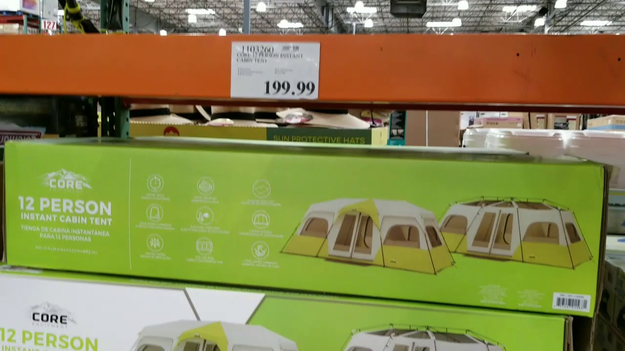 Costco! Core 12 Person Tent! $199!!! & Costco! Core 12 Person Tent! $199!!! - YouTube