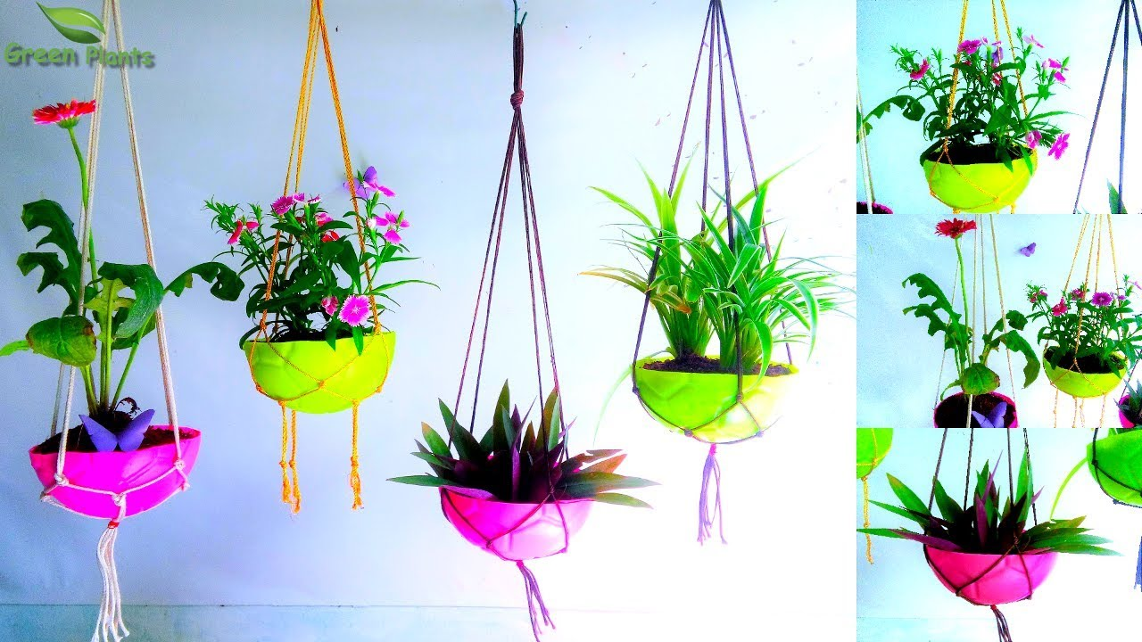 Kids Ball Hanging Planter With Hanging Holder   Garden ... on Hanging Plants Ideas  id=18724