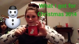 What I Got For Christmas 2014🎄// Grace Gebhart Thumbnail