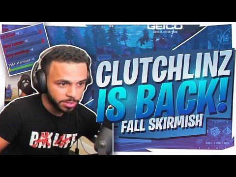 CLUTCHLINZ RETURNS! 45 KILL SQUAD GAME (Fortnite Fall Skirmish Trials)