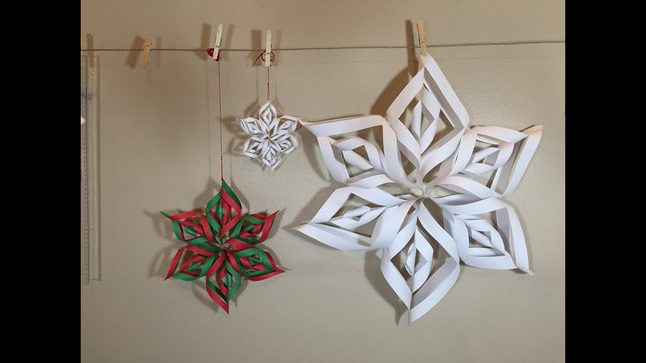 How to make a paper snowflake with your own hands