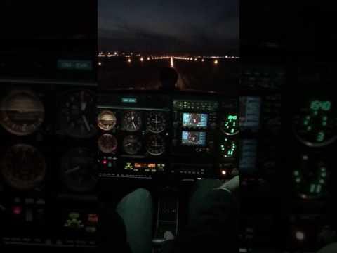 Night landing in Bratislava (LZIB)