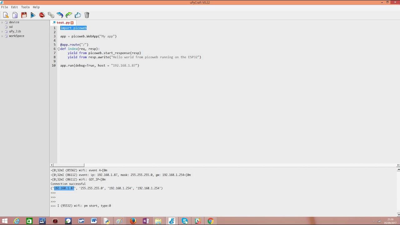 ESP32 MicroPython: HTTP Webserver with Picoweb – techtutorialsx