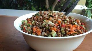 Quinoa Lentil Salad Recipe, Ep131