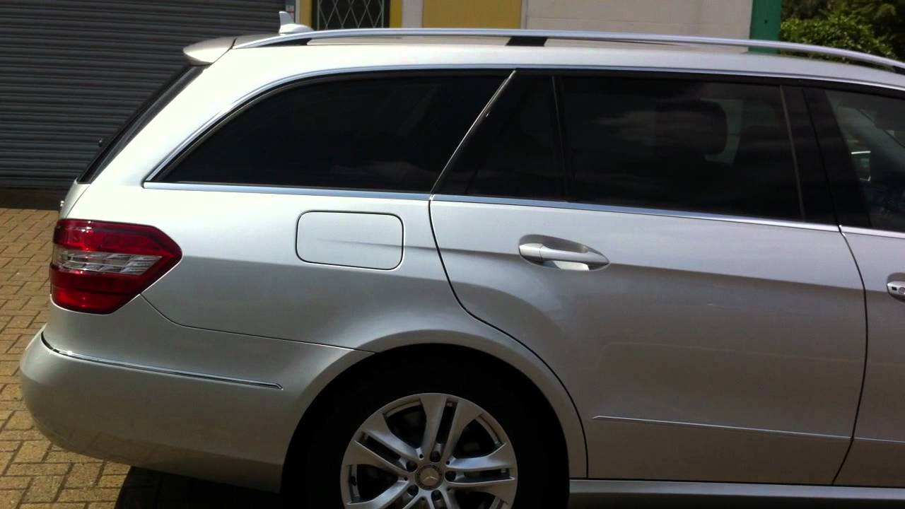 Mercedes benz e class estate with a medium tint on all for Mercedes benz factory tint
