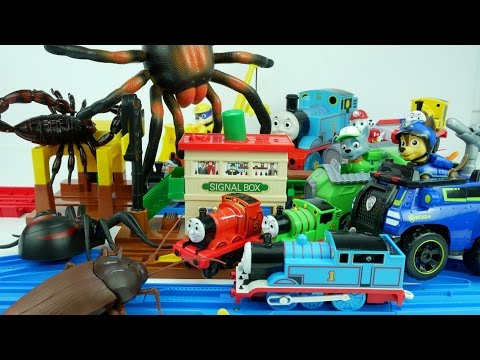 Thumbnail: Paw Patrol, Help Thomas the Tank Engine & Friends Under Attack by Monster Bugs! 퍼피구조대 토마스와 친구들 구해줘
