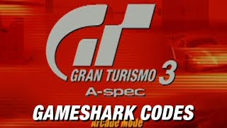Gran Turismo 3: Gameshark Cheats | Cars for Sale & Easy Championship Win