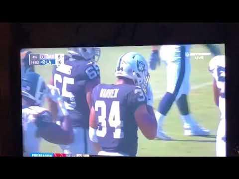 Chris Warren Oakland Raiders Running Back Rushes Over 100-Yards vs Rams In NFL Preseason