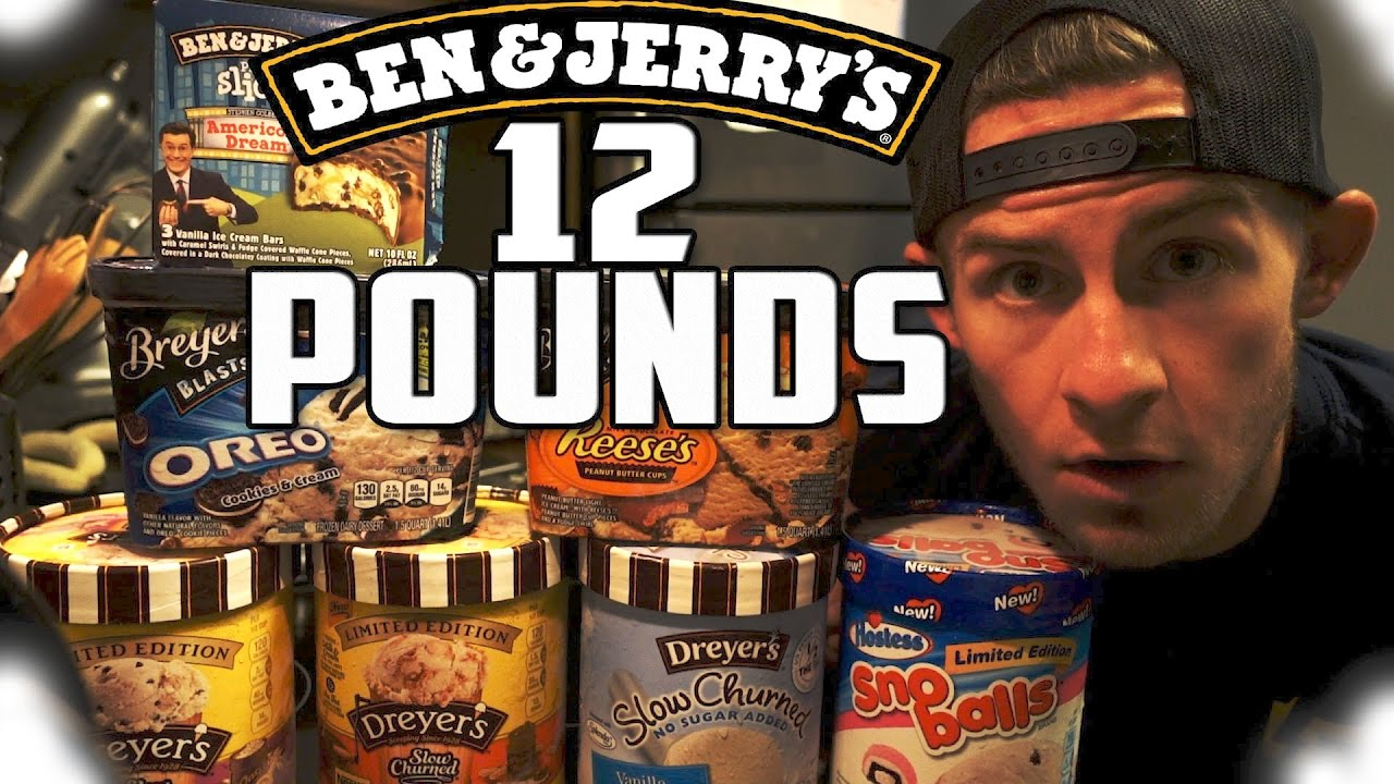 One Man Vs 12 Pounds Of Ice Cream 10 000 Calories