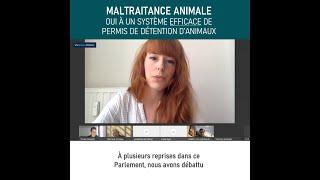 Maltraitance animale : oui à un système efficace de permis de détention – 2 juin 2021