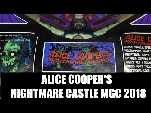 Alice Cooper's Nightmare Castle pinball - 2 games played & playfield views MGC 2018