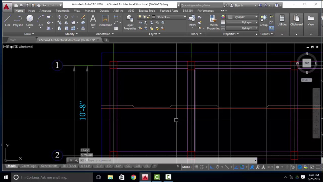 How to Draw Reinforcement Details in Slab By Auto CAD ( Part-15)