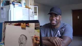 Portrait Drawing of Tyrone Magnus Reactions - REACTION!!!