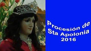 Procesión de Santa Apolonia Teacalco 2016