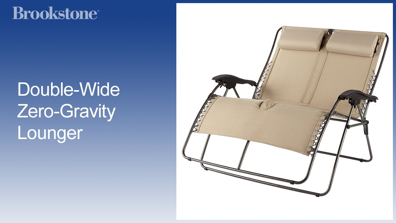 Double-Wide Zero-Gravity Lounger  sc 1 st  YouTube & Double-Wide Zero-Gravity Lounger - YouTube