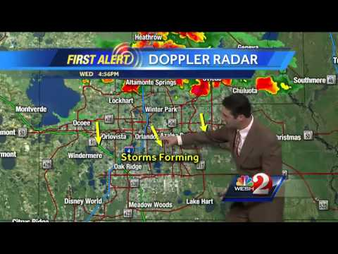 Storms move across Central Florida