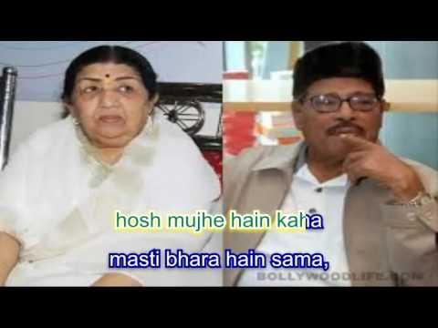 masti bhara hai sama karaoke with lyrics
