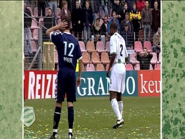 Spektakel tussen FC Groningen en ADO Den Haag in 2004