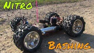 1/8 Ofna Nitro Monster Truck! Fun Bashing & First Start Up!