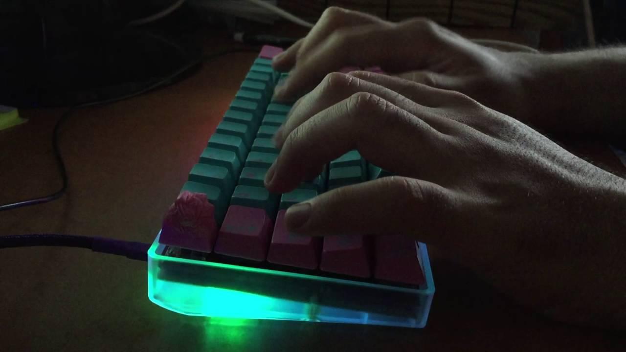 ebd60b0498e GH60 Satan with RGB LED mod, Gateron RGB Red typing test - YouTube