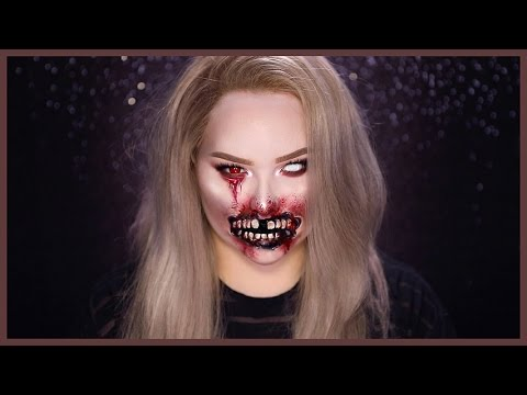 Thumbnail: Glam ZOMBIE - Torn Mouth Halloween Makeup Tutorial