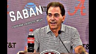 Alabama Crimson Tide Football: Nick Saban Presser before Louisiana-Lafayette