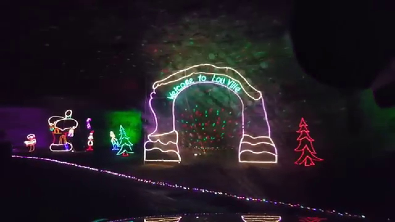 Lights Under Louisville 2017! Christmas Lights display at the ...