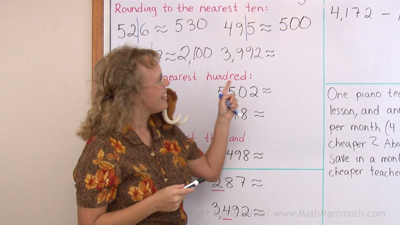 hight resolution of Rounding 4-digit numbers - 4th grade math - YouTube