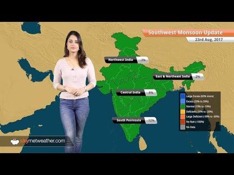 Monsoon Forecast for Aug 24, 2017: Rain in West Coast, Uttarakhand, Punjab, West Bengal
