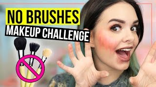 NO BRUSHES Makeup Challenge - Ganzes Makeup NUR mit den Fingern! - Full Face Using Only My Fingers