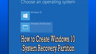 creating a Recovery Drive / Partition in Windows 8.1