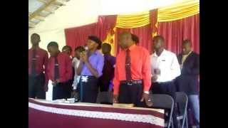 "R.E.H.C.O.G General choir singing ""You are the One that we praise""."