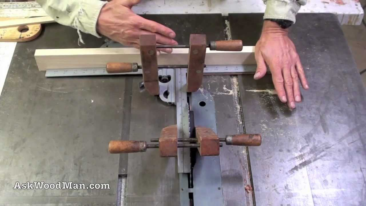 Table Saw Tip 1 Interior Fence Cuts How To Set Miter