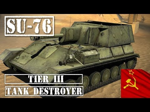 SU-76 Tank Review - Russian Tier 3 Tank Destroyer  || World of Tanks Blitz ||